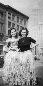 "Mom and Kay ""Going Hawaiian"" in Downtown Seattle"
